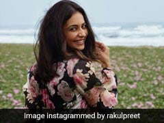 Rakul Preet Singh Is A Floral Queen In A Dress To Match The Landscape