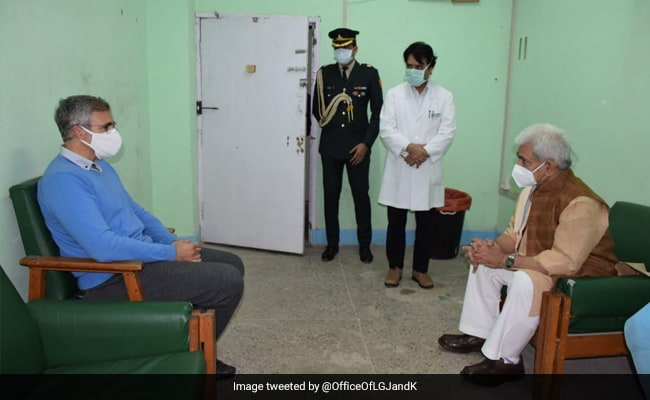 J&K Lt Governor Manoj Sinha Visits Hospital To Enquire About Farooq Abdullah's Health