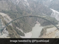 Arch Of World's Highest Railway Bridge In Jammu And Kashmir Completed