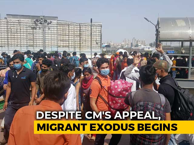 Video : Rush Of Migrants At Inter-State Bus Station In Delhi