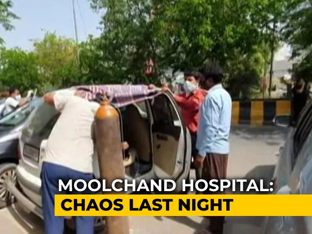 """Video : """"No One Answers Calls On The Ground"""": Delhi's Moolchand Hospital On Oxygen SOS"""