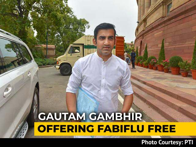 Video : 'Get Anti-Covid Fabiflu For Free': Gautam Gambhir To East Delhi Residents