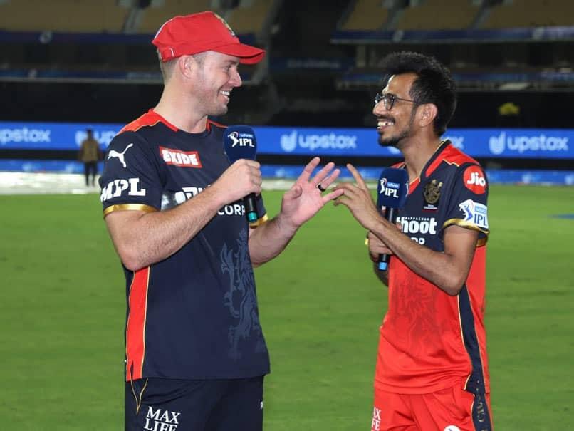 "IPL 2021: Yuzvendra Chahal Interviews ""Mr 360"" AB De Villiers After RCB Hammer KKR. Watch"