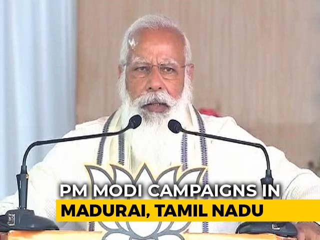 Video : At Madurai Rally, PM Targets DMK-Congress Over 2011 Jallikattu Ban