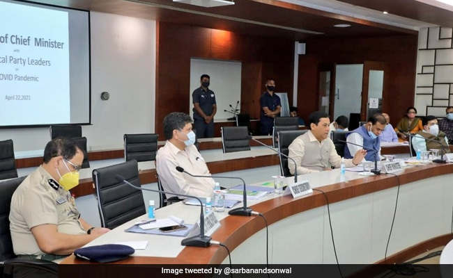 Assam Chief Minister Chairs All-Party Meet To Review COVID-19 Situation