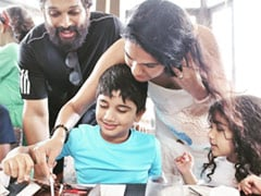 Allu Arjun, Wife Sneha And Kids Make A Picture Perfect Family