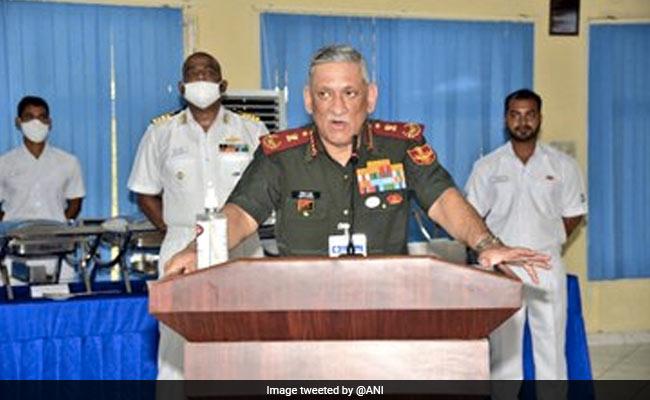 General Bipin Rawat Visits Karnataka's Karwar Naval Base, Briefed About Project Seabird