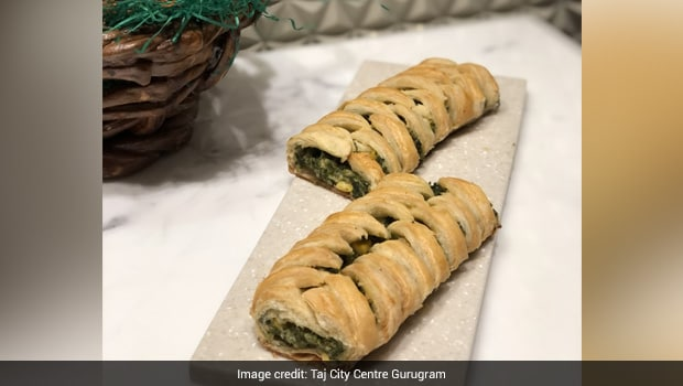 Thyme Scented Corn and Spinach Strudel