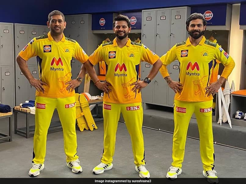 "IPL 2021: Suresh Raina Poses With MS Dhoni, Ravindra Jadeja, Fans Call It ""Pic Of The Day"""