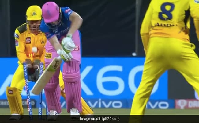 Ravinda Jadejas wonder-ball to castle Jos Buttler suresh raina reaction viral on internet CSK vs RR IPL 2021