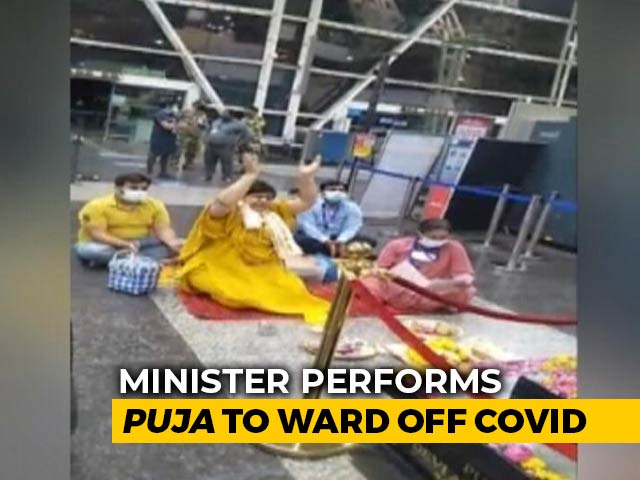 Video : Madhya Pradesh Tourism Minister Performs '<i>Puja</i>' To Ward Off Covid