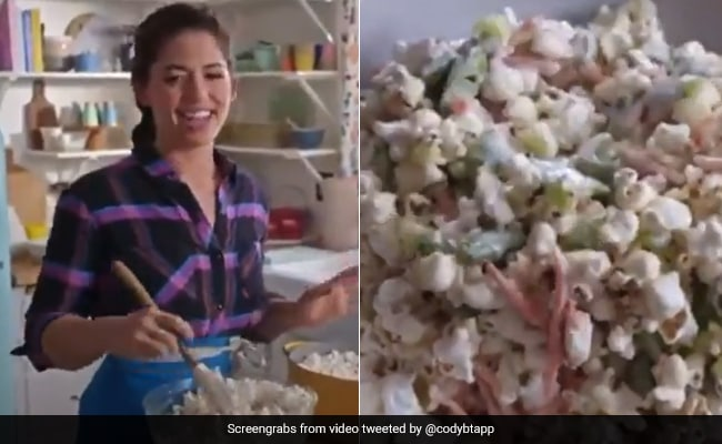 Video Of Popcorn Salad Goes Viral; Twitter Calls It 'Recipe From Hell'