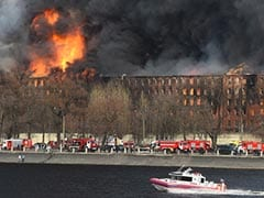 Massive Fire At Russia's Historic Saint Petersburg Factory Still Burning