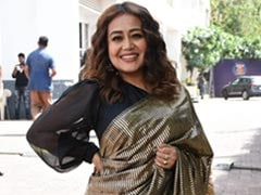 Neha Kakkar Looks Fabulous As Ever In A Black And Gold <i>Saree</i>