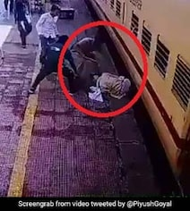 Cop Saves Man From Falling Under Train, Railway Minister Shares Video