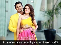 Sugandha Mishra's Candy Coloured Engagement <i>Lehenga</i> Is What Summer Dreams Are Made Of