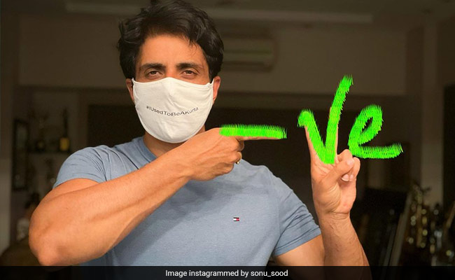 Sonu Sood Tests Negative For COVID-19. Here's What He Shared - NDTV