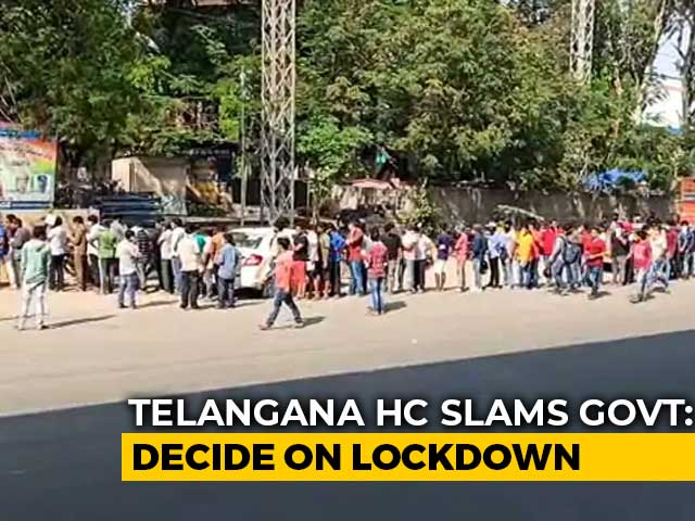 Video : Telangana High Court's 48-Hour Ultimatum To State To Decide On Lockdown