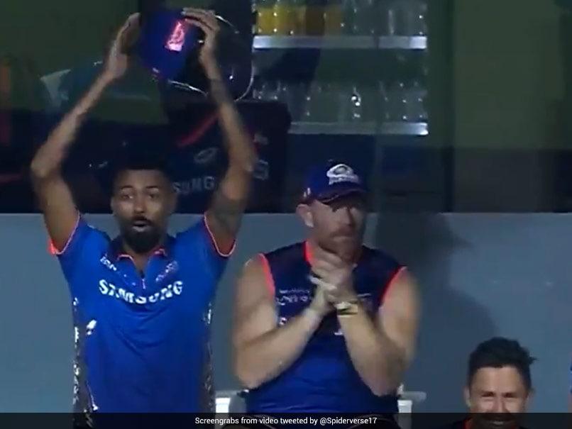 IPL 2021: Suryakumar Yadavs Humongous Six Leaves Hardik Pandya Shell-Shocked. Watch