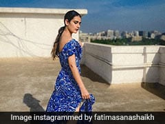 Fatima Sana Shaikh Colours Up Our Day In A Stunning Blue Dress