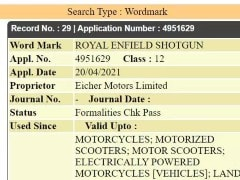 Royal Enfield Trademarks 'Shotgun' Name In India