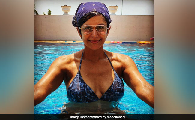 On A Scale Of 1 To Mandira Bedi, How Jealous Are You Of This Pool Pic?
