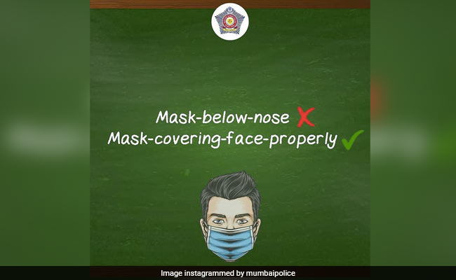 Mumbai Police's 'Pronunciation Guide' On How To Wear A Mask Right