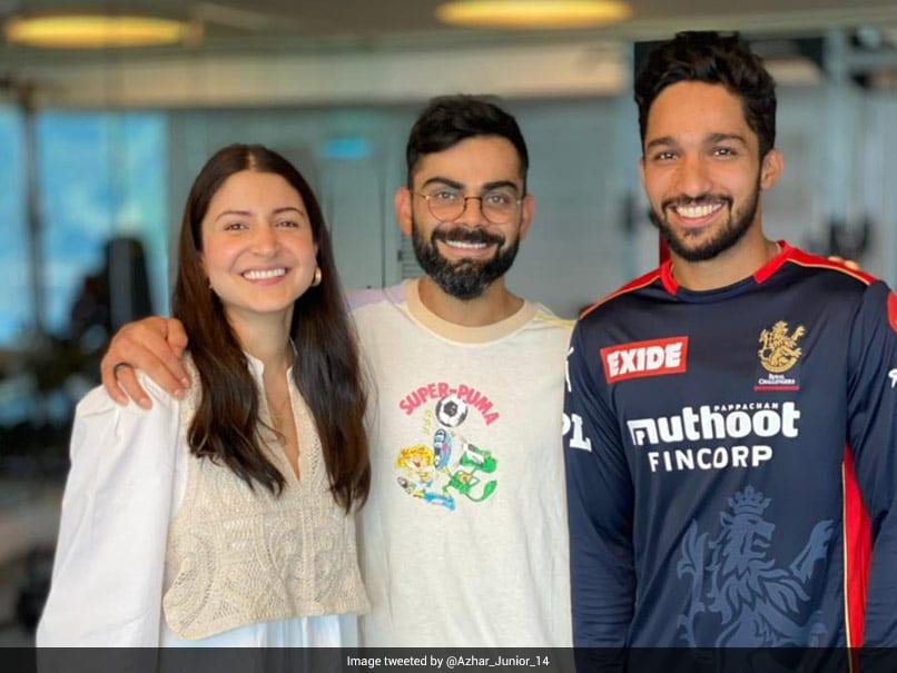 IPL 2021: RCBs Mohammed Azharuddeen Shares Pic With Virat Kohli, Anushka Sharma