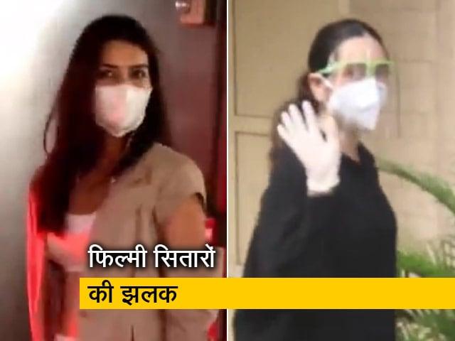 Video : मुंबई में दिखे फिल्मी सितारे, 'भेड़िया' की शूटिंग खत्म कर मुंबई लौटीं कृति सेनन