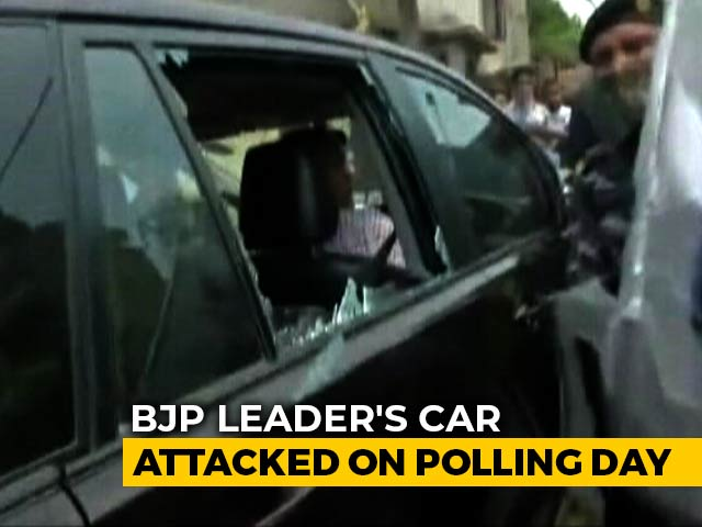 BJP MP Locket Chatterjee's Car Attacked In Bengal's Hooghly Amid Polling