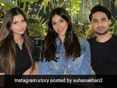 Just A Pic Of Suhana Khan With Cousin Arjun Chhiba. Bonus...A Glimpse Of His Girlfriend