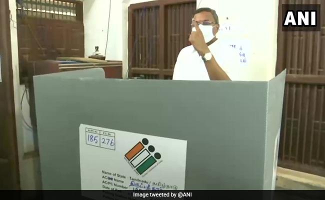 Tamil Nadu Polls: Congress Leader Karti Chidambaram Casts Vote