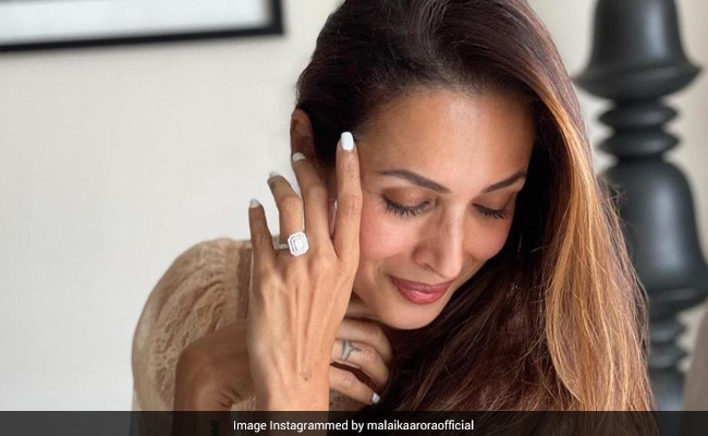 """Ahem, Ahem!  Malaika Arora Is Busy """"Dreaming"""" Of The Ring In This Pic"""