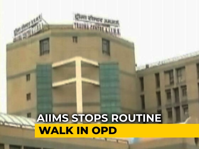 Video : AIIMS Puts Restrictions On Out-Patient Registration To Curb Covid Spread