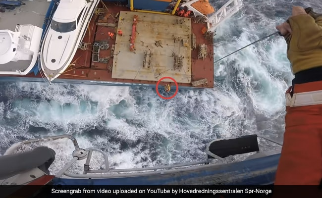 Watch: Crew Airlifted From Cargo Ship Adrift At Sea. Dramatic Rescue Is Viral