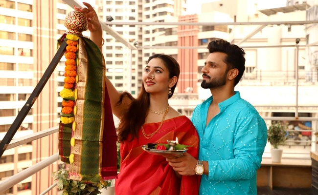 Gudi Padwa 2021: Rahul Vaidya And Disha Parmar Celebrate The Festival Together For The First Time