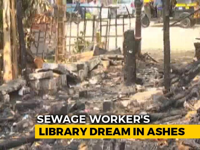 Video : Mysuru Library Owned By Labourer Set On Fire, Social Media Comes To Help