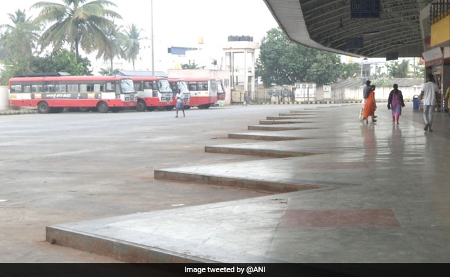 Karnataka Bus Employees On Strike, Commuters Caught Unawares