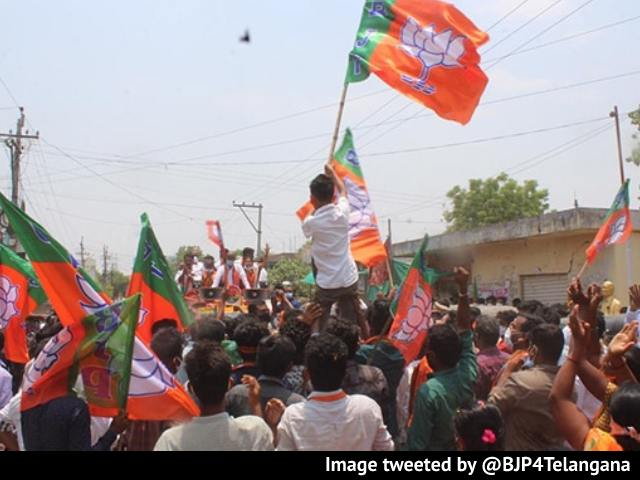 Video : After High Court Rap, BJP's Mega Rally For Telangana Local Body Polls