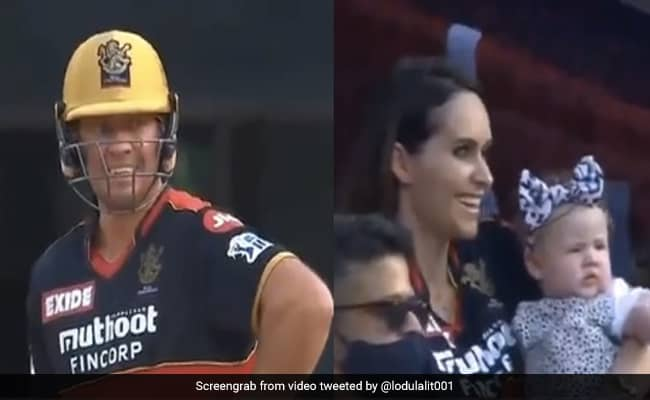 AB De Villiers attack Andre Russell fiercely so the wife of AB Danielle de Villiers sitting in the stand gave such a reaction watch viral video IPL 2021