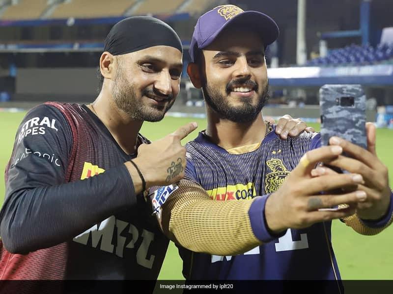 IPL 2021: Nitish Rana, Harbhajan Singh Rap To Brown Munde After Victory Over SRH