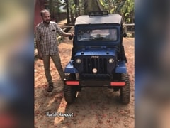 Kerala Man Builds A Fully Functional Miniature Jeep For His Son