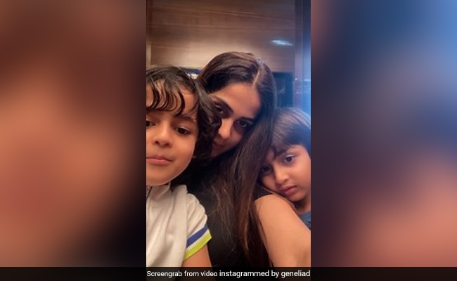 On Genelia D'Souza's Video Featuring Sons Riaan And Rahyl, Riteish Deshmukh Left This Comment