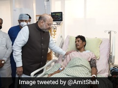 Amit Shah Meets Soldiers Injured In Maoist Attack In Chhattisgarh