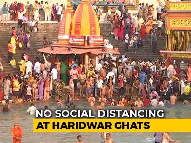 Video : Thousands, Many Maskless, Gather For Kumbh Mela Amid India Covid Battle