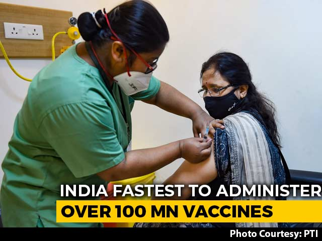 Video : India Fastest To Administer Over 100 Million Covid Jabs In 85 Days