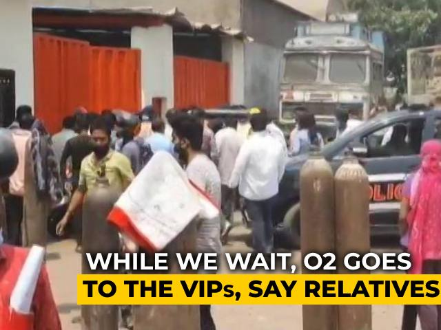 Video : Long Queues For Oxygen At UP's Ghaziabad Plant