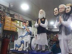 मिठाई से बनी PM मोदी और ममता बेनर्जी की मूर्तियां, दुकानदार का ये है मकसद, देखें- तस्वीरें