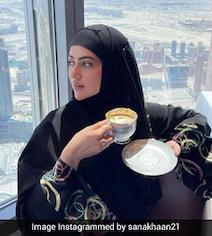 देखें BEEPS VIDEO: सना खान ने बुर्ज खलीफा के टॉप पर उठाया 'गोल्ड-प्लेटेड कॉफी' का लुत्फ़
