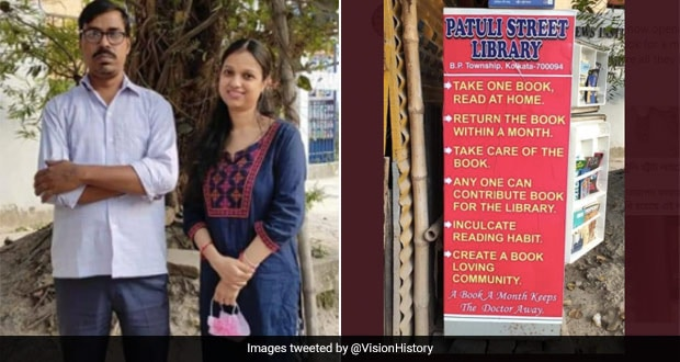 This Kolkata Couple Converts Fridge Into Bookshelf For Free Street Library; Twitter Reacts